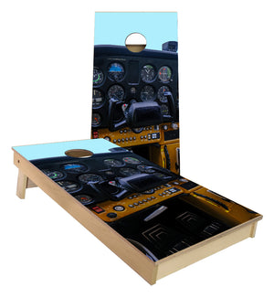 Cessna Cockpit airplane instrument panel cornhole boards