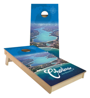 Charlevoix Michigan the Beautiful UP NORTH Cornhole boards