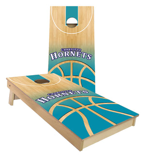 Charlotte Hornets Basketball Court Cornhole Boards