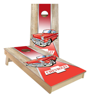 57 Chevy Classic Car custom cornhole boards