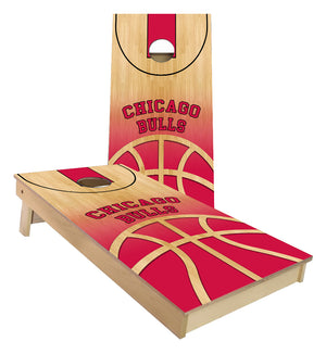 Chicago Bulls Basketball Court Cornhole Boards
