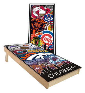Chicago Teams and Denver Teams  cornhole boards
