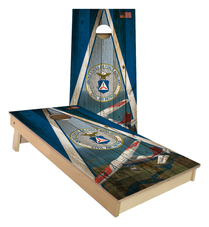 Civil Air Patrol Triangle Themed custom Cornhole Boards