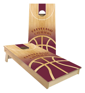 Cleveland Cavaliers Basketball Court Cornhole Boards