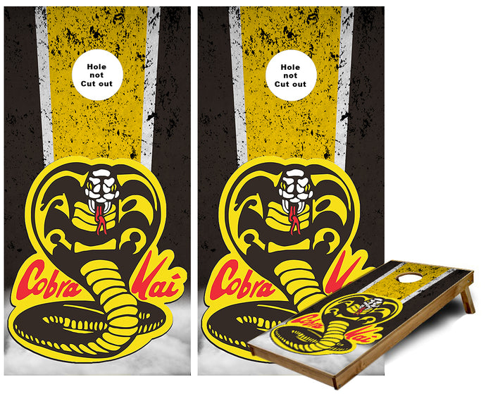 Cobra Kai Karate Cornhole Wraps