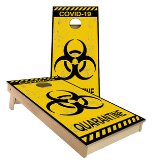 COVID-19 CORONA VIRUS QUARANTINE SIGN Cornhole Boards