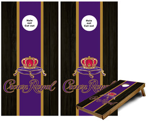 Crown Royal Striped Cornhole Wraps