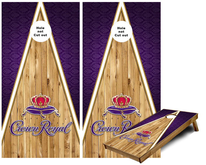 Crown Royal wood triangle Cornhole Wraps