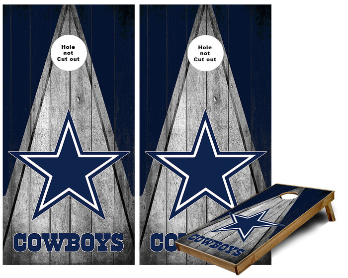 Dallas Cowboys Triangle theme Cornhole Wraps