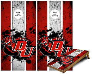 Davenport University cornhole wraps