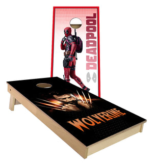 DeadPool and  X Men Wolverine Cornhole Boards