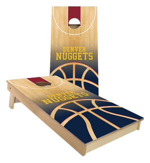 Denver Nuggets Basketball Court Cornhole Boards