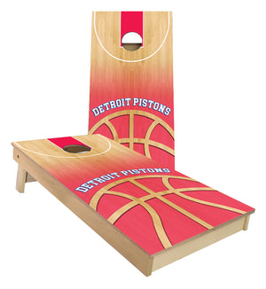 Detroit Pistons Basketball Court Cornhole Boards