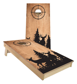 Doe and Buck Silhouette Cornhole Boards