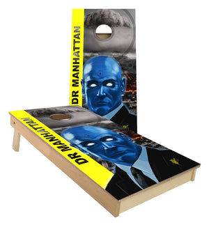 Dr Manhattan Nuclear explosion Cornhole Boards