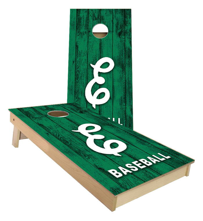 Eastern Michigan Baseball custom Cornhole Boards