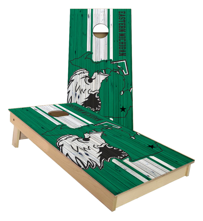 Eastern Michigan University Cornhole Boards