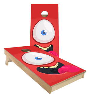Cyclops Smiling Cartoon character cornhole boards