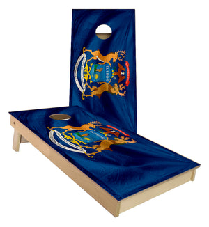 Michigan Flag Cornhole Boards