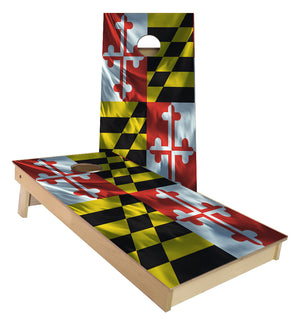 Maryland State Flag Cornhole Boards