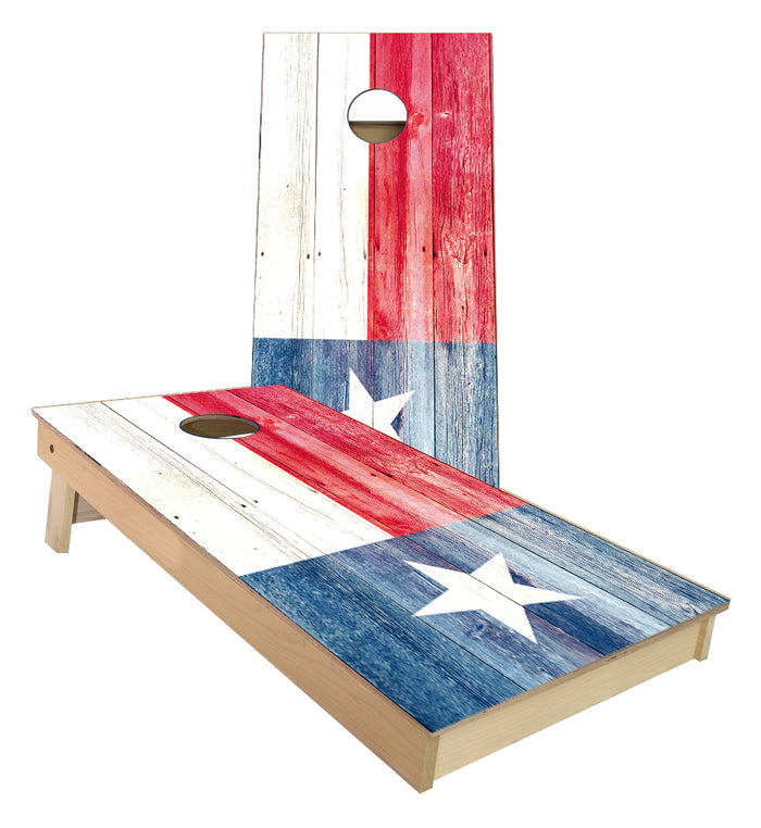 Texas State Flag Cornhole Boards