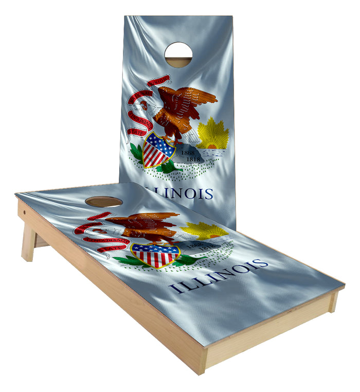 Illinois State Flag Cornhole Boards