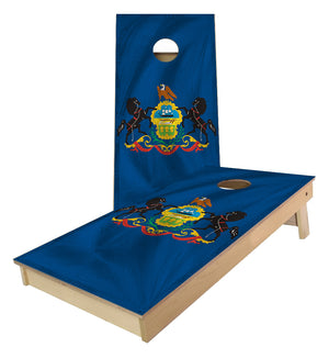 Pennsylvania State Flag Cornhole Boards
