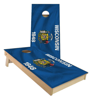Wisconsin State Flag Cornhole Boards