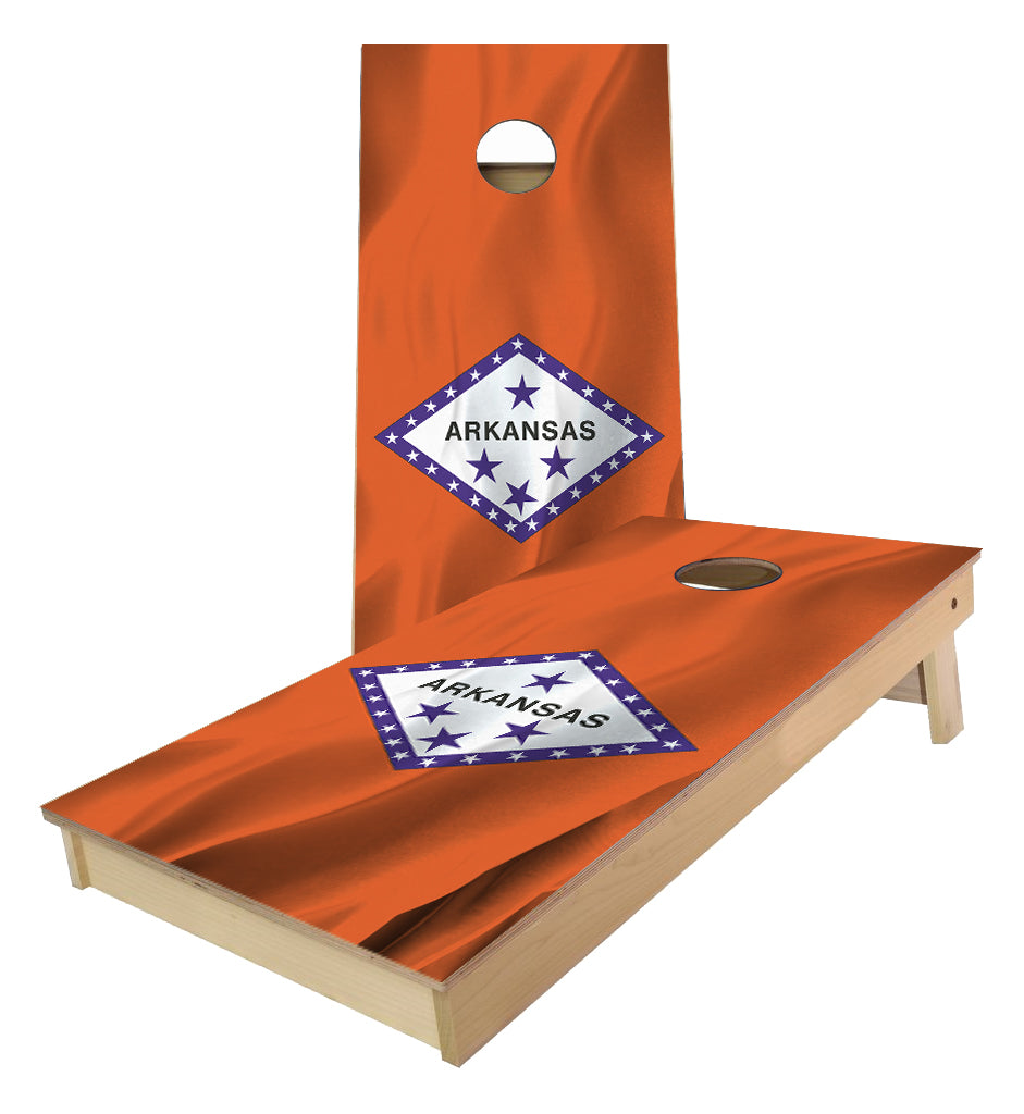 Arkansas State Flag Cornhole Boards