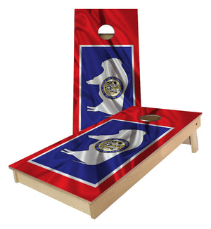 Wyoming State Flag Cornhole Boards