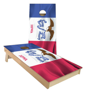 Iowa State Flag Cornhole Boards