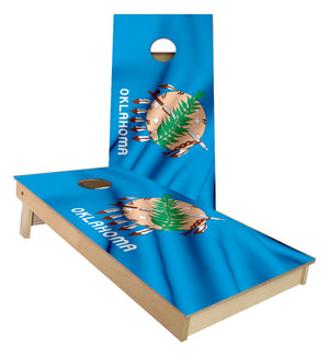 Oklahoma State Flag Cornhole Boards