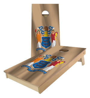 New Jersey State Flag Cornhole Boards
