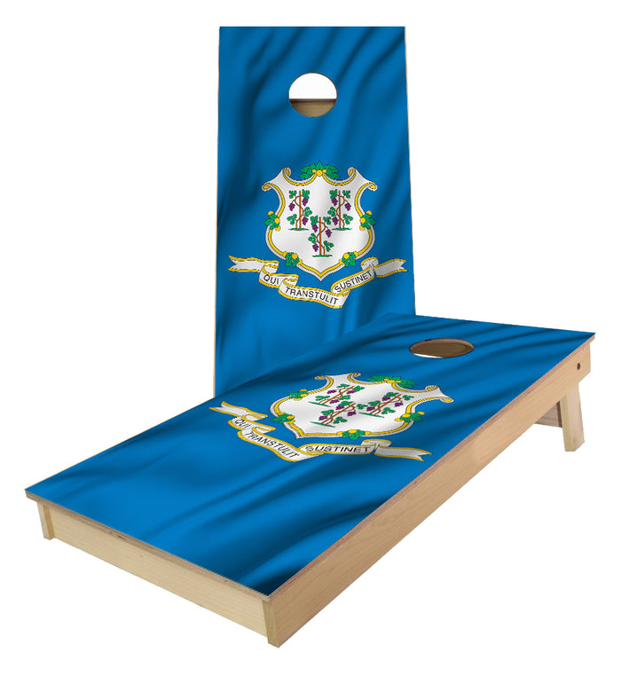 Connecticut State Flag Cornhole Boards