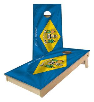 Delaware State Flag Cornhole Boards