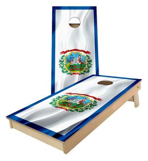 West Virginia State Flag Cornhole Boards