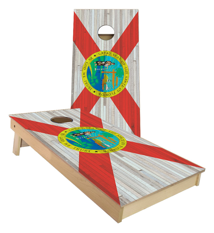 Florida State Flag Cornhole Boards