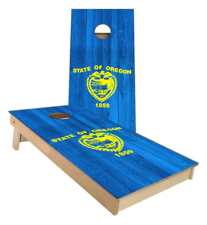 Oregon State Flag Cornhole Boards