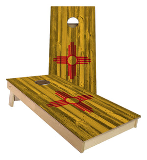 New Mexico State Flag Cornhole Boards