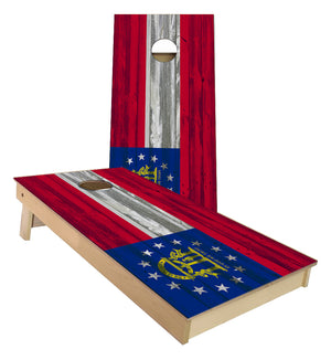 Georgia State Flag Cornhole Boards