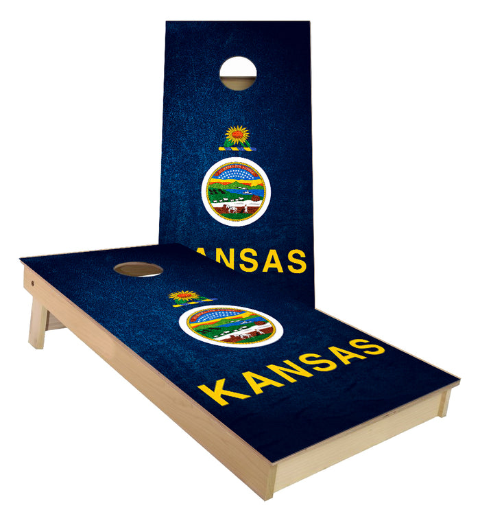 Kansas State Flag Cornhole Boards