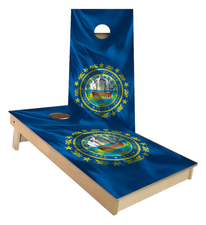New Hampshire State Flag Cornhole Boards