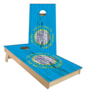 South Dakota State Flag Cornhole Boards