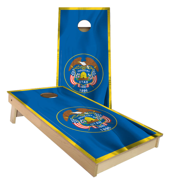 Utah State Flag Cornhole Boards