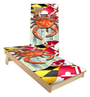 Maryland Crab cornhole boards