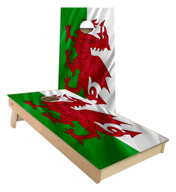 Welsh Flag Cornhole Boards