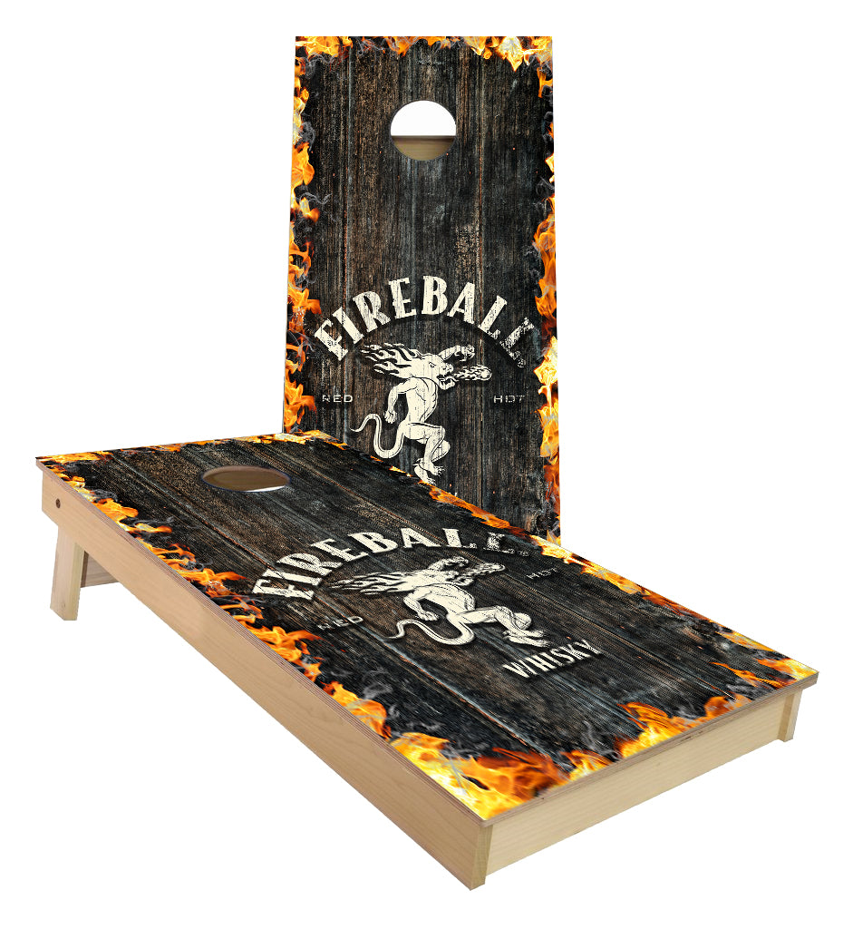 FireBall drink Cornhole Boards