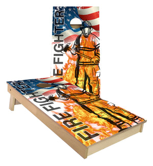 Fire Fighter cornhole boards