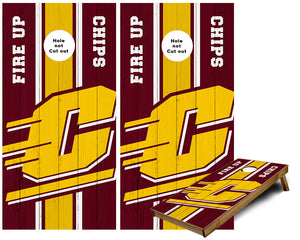 CMU Central Michigan Cornhole Wraps