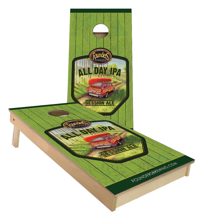 Founders All Day IPA custom Cornhole Boards